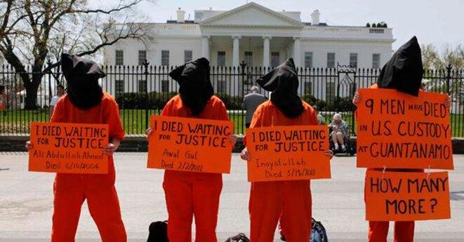 Manifestation contre Guantanamo