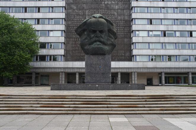 Karl Marx trône toujours dans le centre de Chemnitz © AP