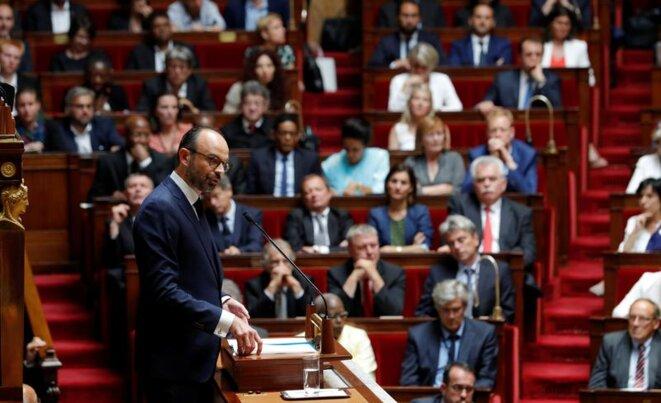 Discours de politique générale d'Édouard Philippe, le 4 juillet. © Reuters