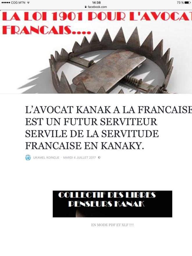 L'avocat Kanak à la française 1/3