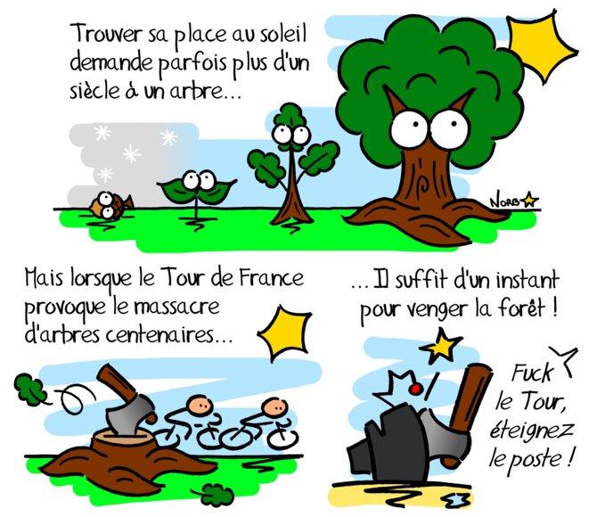 Quand le Tour de France massacre des arbres centenaires © Norb