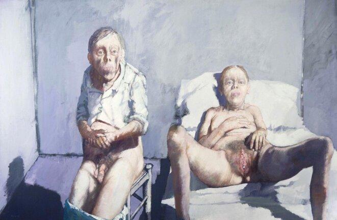 Jean Rustin, Encore une sale journée Acrylique sur toile (130×194 cm) © Jean Rustin 1986 – Tous droits réservés