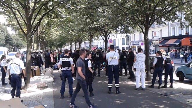 Le 12 août 2016, avenue de Flandres, à Paris, quelques instants avant les incidents © DR