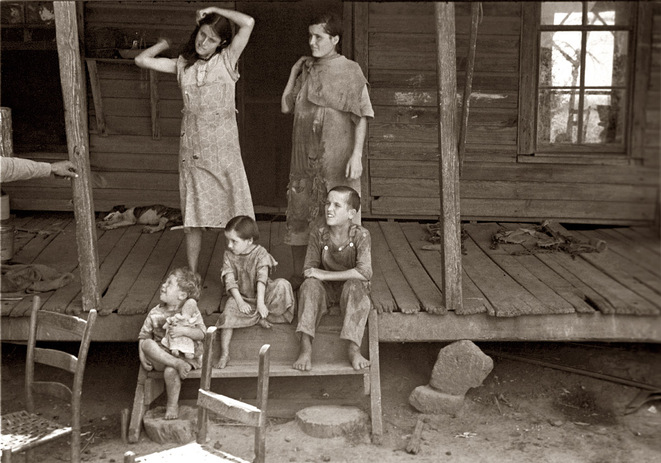 Tengle children - Hale county - Alabama - été 1936 © Walker Evans