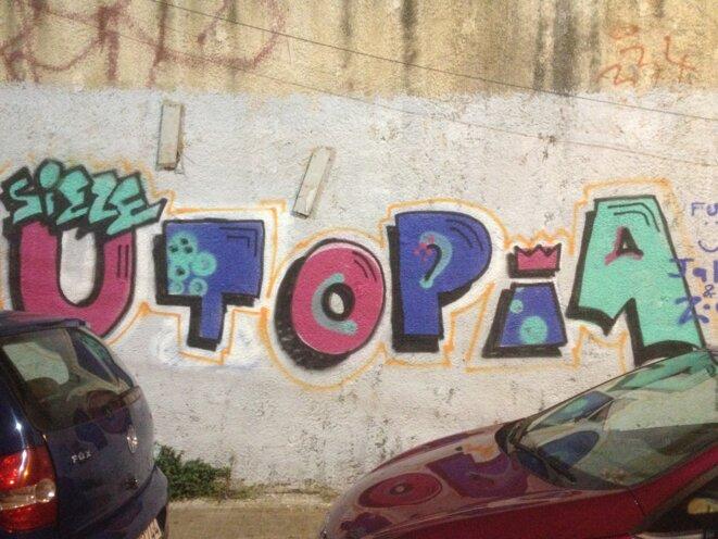 Graffiti dans les rues d'Athènes...une autre Europe