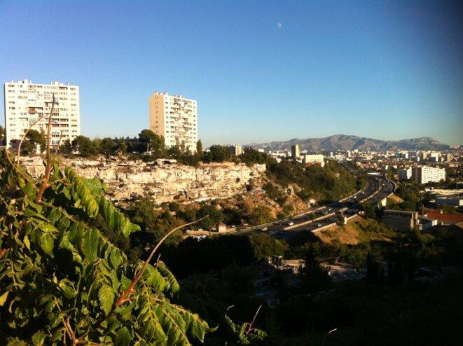 Marseille vue depuis le quartier de La Viste, en 2013. © LF