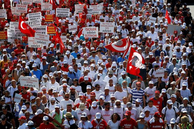 """Jeudi 6 juillet, au 22e jour de la """"Marche pour la justice"""" © Reuters"""