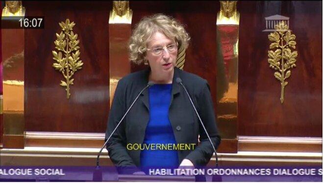 Muriel Pénicaud à l'Assemblée nationale le 10 juillet 2017. © Assemblée nationale (capture d'écran)