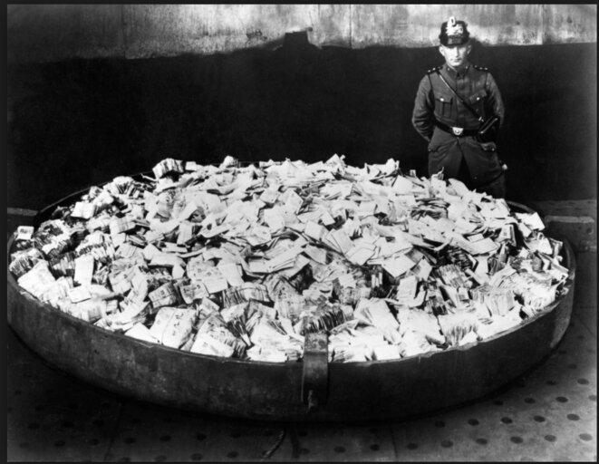 Image de l'hyperinflation en Allemagne en 1923