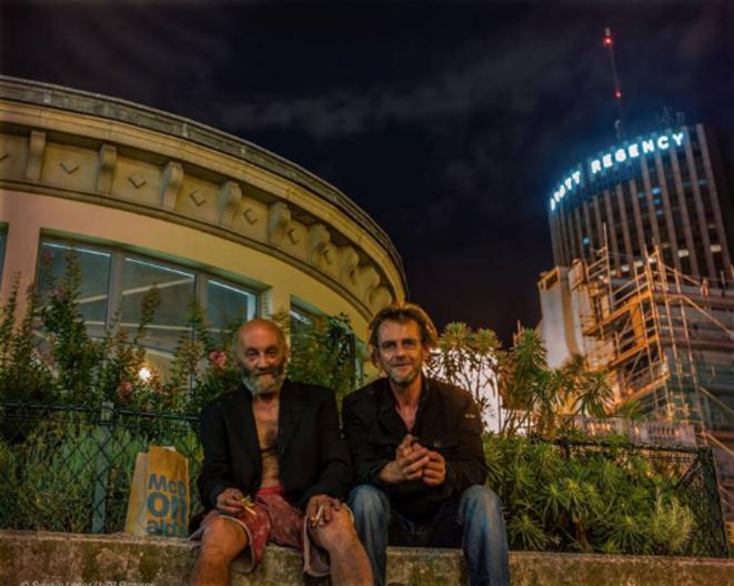 Henry et Sylvain, un soir d'été. © Sylvain Leser