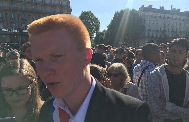 Adrien Quatennens place de la République à Paris © CG