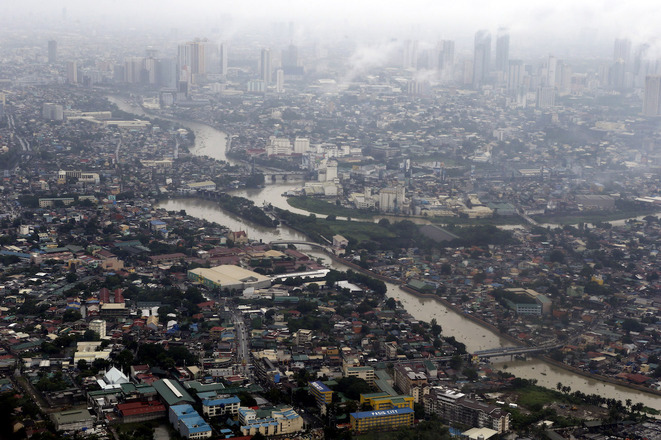 Vue aérienne de Manille, la capitale des Philippines. © Reuters
