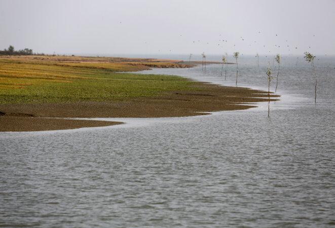 L'île de Thengar Char, dans la baie du Bengale. © Reuters