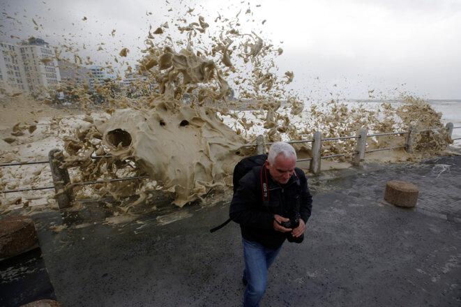 Jour de tempête au Cap, en Afrique du Sud. © Reuters