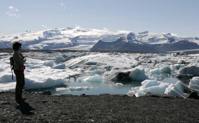 Le glacier de Breidamerkurjökull, situé au sud-est de l'Islande, est le plus grand d'Europe. © Reuters