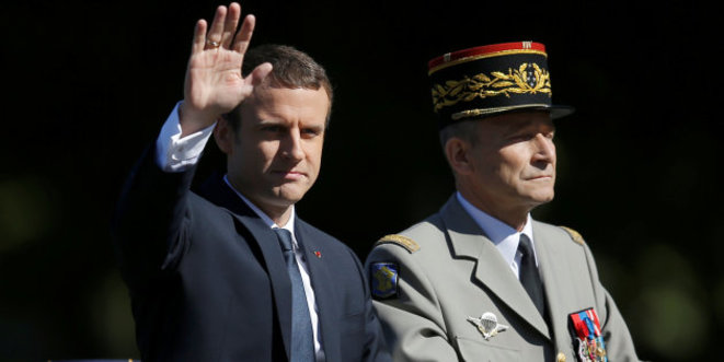 Emmanuel Macron and General Pierre de Villiers. © Reuters