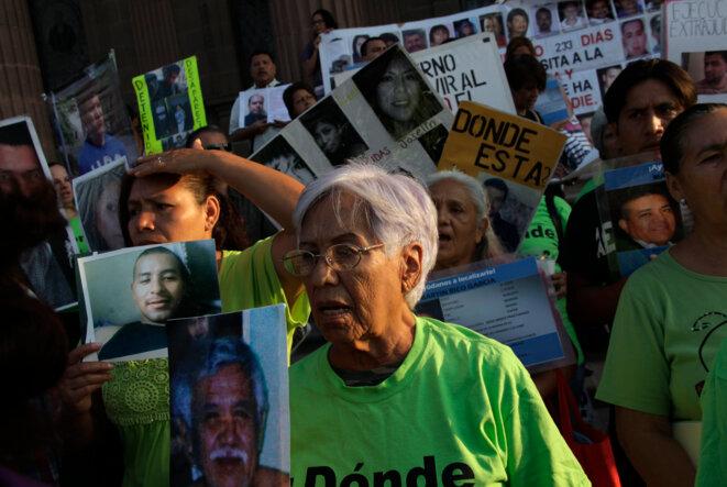 Manifestation des familles de disparus à Mexico en août 2012 © Reuters