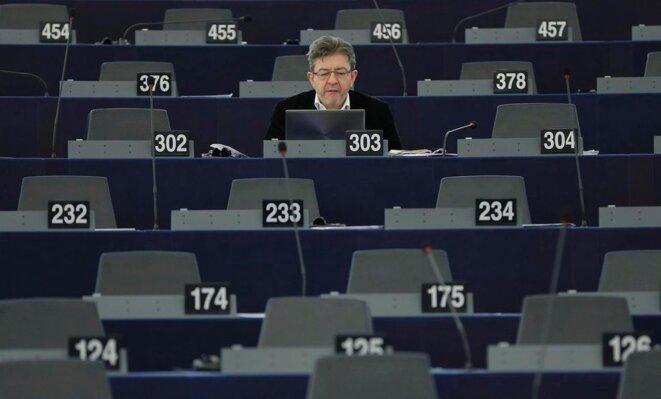 Jean-Luc Mélenchon le 20 janvier 2016 au Parlement européen. © Reuters