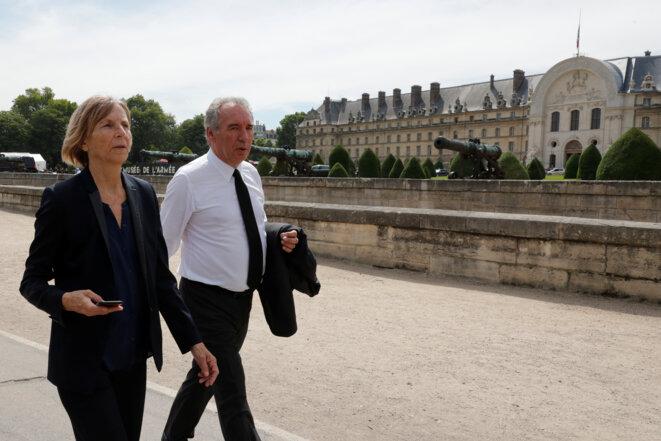 Marielle de Sarnez et François Bayrou à Paris, le 5 juillet 2017. © Reuters