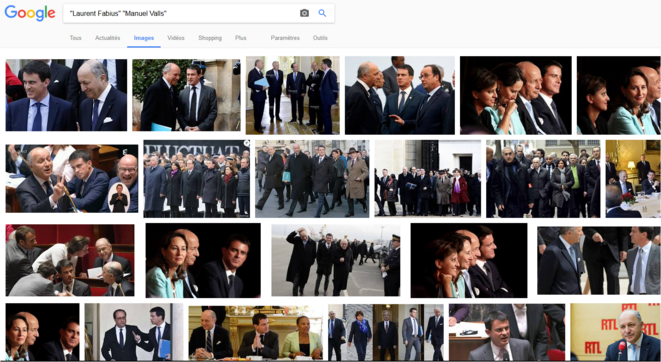 Recherche simple images -Laurent Fabius- -Manuel Valls- le 23/07/2017 © Capture Google