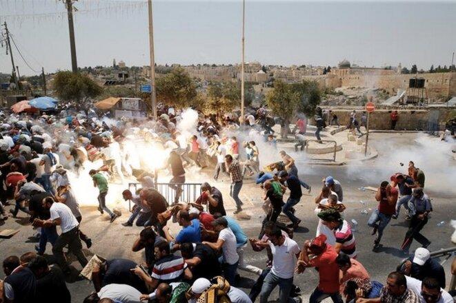 Vendredi 21 juillet, dans la vieille ville de Jérusalem © Reuters