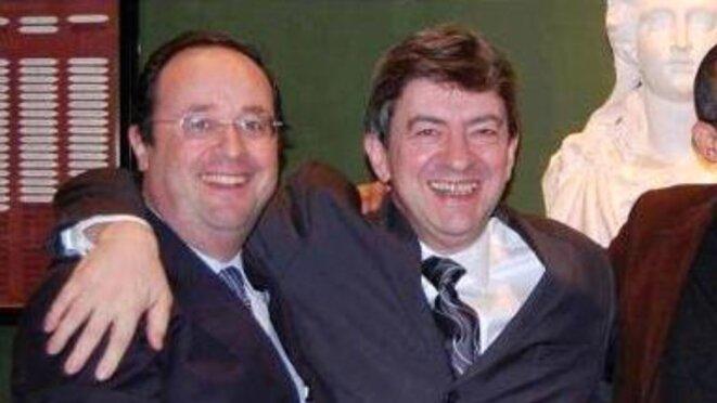 Mélenchon en cravate psychédélique, c'est la fête avec François Hollande