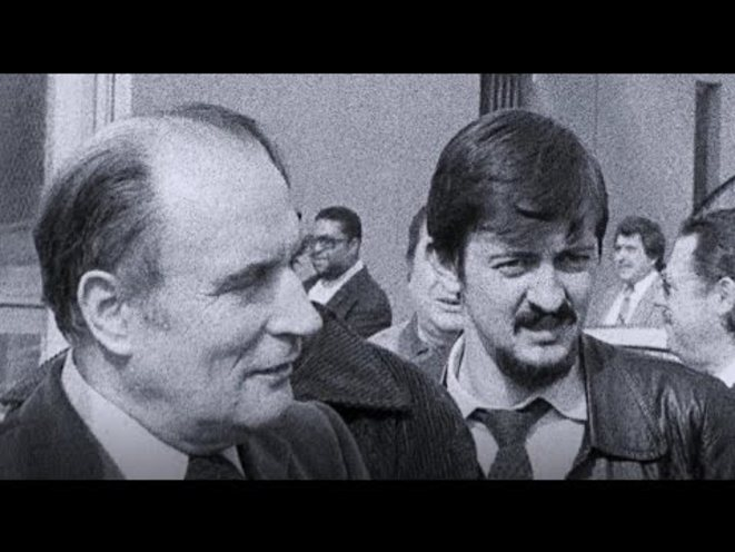Mélenchon en cravate cool avec son mentor François Mitterand