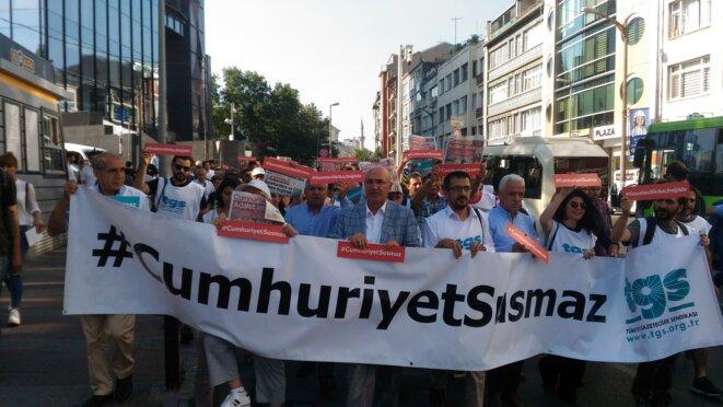 « Cumhuriyet ne se taira pas » © Nicolas Cheviron
