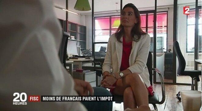 Agnès Verdier-Molinié interviewée dans les locaux de l'Ifrap le 18 juillet [tweet Fondation Ifrap]