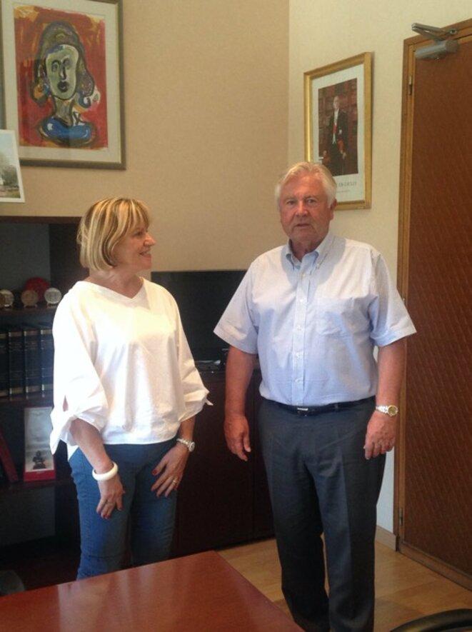 Catherine Darde, ex-première vice-présidente de la Métropole, et Jean-Pierre Grand, maire de Castelnau-le-Lez © Elsa Sabado