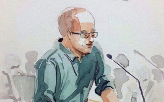 Ahmet Sik lors de sa déposition au procès du quotidien «Cumhuriyet», le 26 juillet 2017. © Zeynep Özatalay