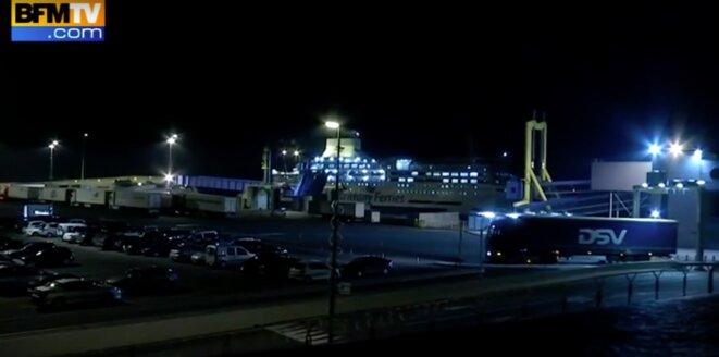 Le port de Ouistreham © Capture d'écran BFM TV