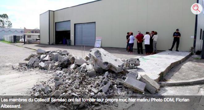 Le Collectif Séméac fait tomber son propre mur © Florian Albessard