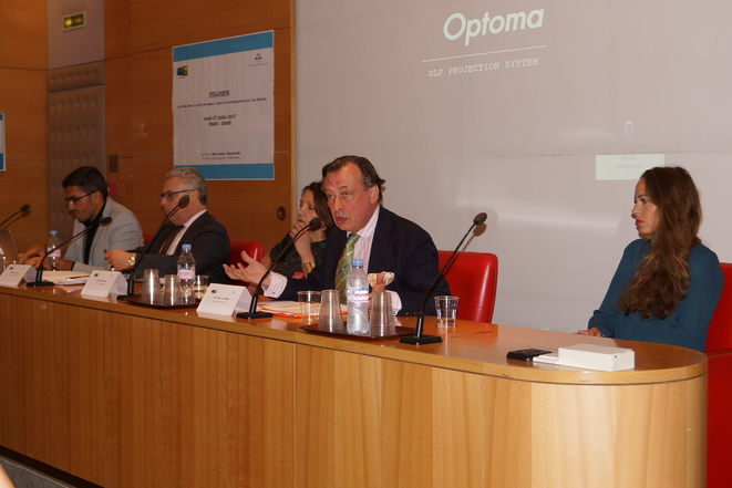 Colloque au Sénat , première table ronde avec Loic Tribot La SPIERE  ,Anne GIUDICELLI  ,Emmanuel DUPUY  ,Nabil Ennasri,