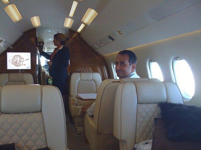 Marwan Lahoud, quien fue hasta febrero de 2017 el número dos de Airbus Group al cargo de ventas y estrategia, durante un viaje a Kazajstán en compañía de un intermediario. © Mediapart