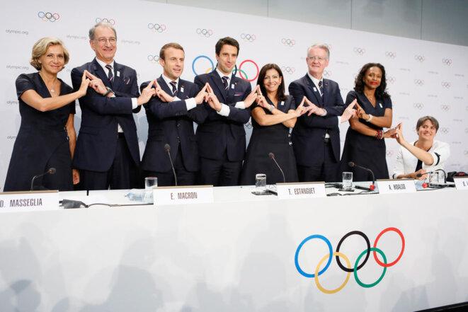 La délégation de Paris 2024 à Lausanne le 11 juillet. © Reuters