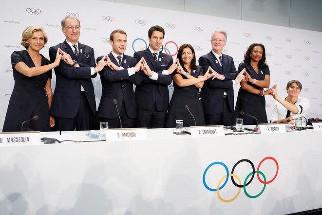 La delegación de París 2024 en Lausanne el 11 de julio. © Reuters