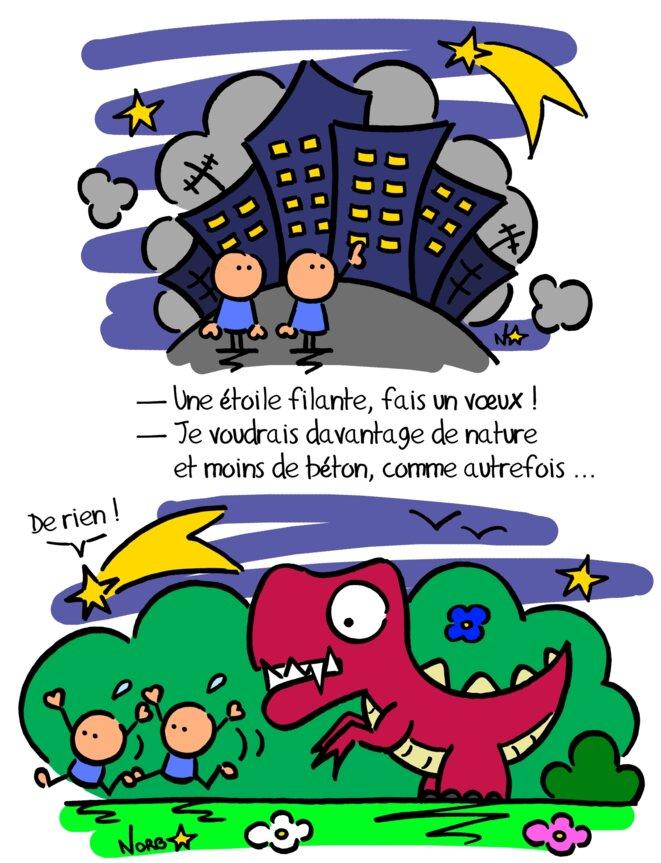 3 dés pour un dessin (n°1): retour à la terre! © Norb