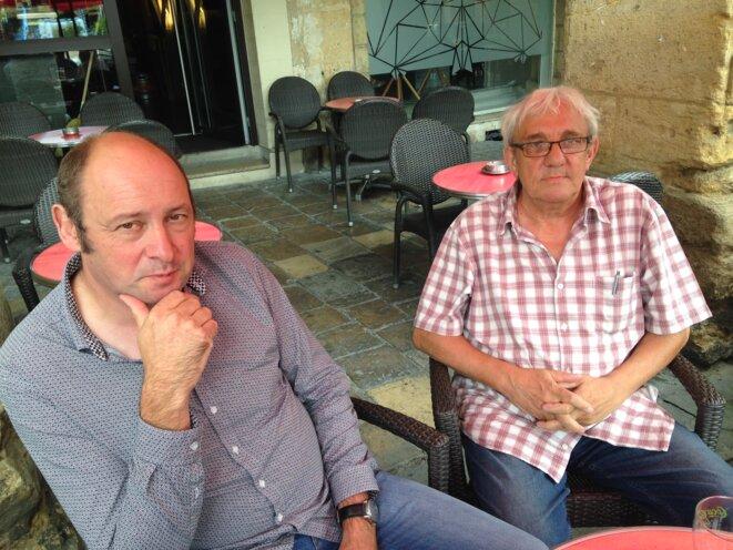 Rémy Petitjean et Denis Coune portent la voix de leurs ex-collègues. © C.A.