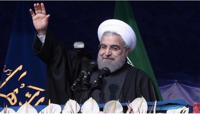 El presidente Hasan Rouhaní, el 10 de febrero de 2017. © Reuters