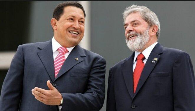 Hugo Chavez et Lula en 2010 © Dr