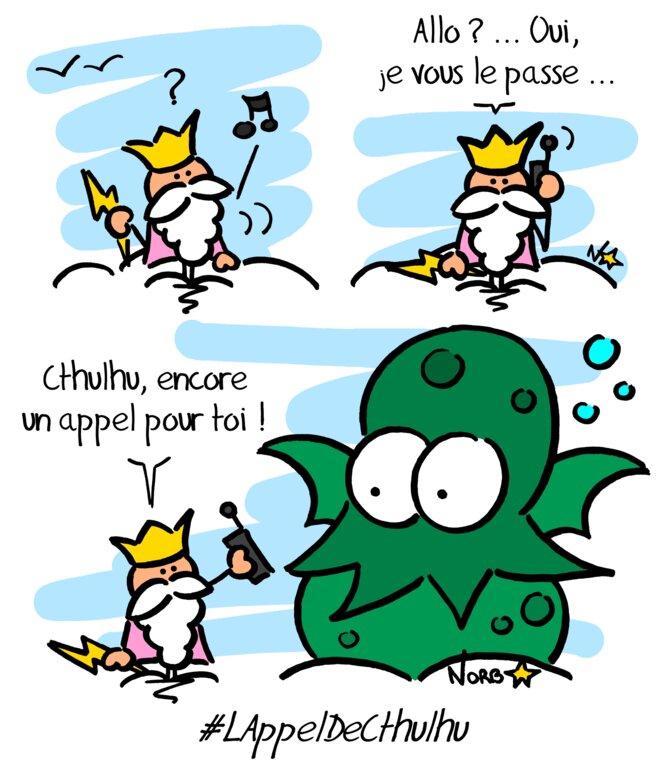 Trois dés pour un dessin (n°2): l'appel de Cthulhu! © Norb