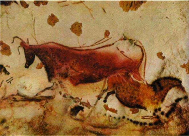 I ROUGE     vache rouge, Lascaux