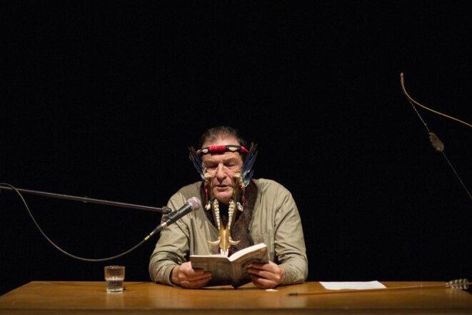« Là où l'arc nous emmène », Lecture de Jean-Paul Curnier au festival ActOral , Marseille, 11 octobre 2014