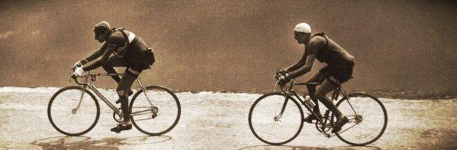 Fausto Coppi et Gino Bartali, sur le Giro 1947 © Il foglio