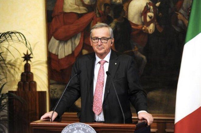 Jean-Claude Juncker, le président de la Commission, lors de sa visite d'État à Rome, le 26 février 2016 © EC.