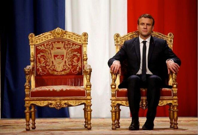 Emmanuel Macron, le 14 mai 2017, à l'Hôtel de ville de Paris. © Charles Platiau / Reuters