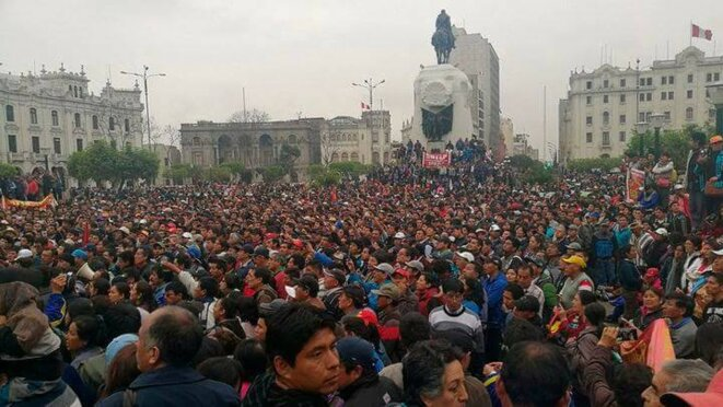 Plaza San Martín, Lima, 08-08-2017 © Nicolás León