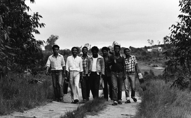 Le groupe Mahaleo, en 1972. © Lucien Rajaonina