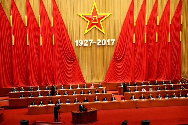 Xi Jinping durante la ceremonia del 90° aniversario de la fundación del ejército chino, en Pekín el 1 de agosto. © Reuters